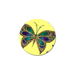 Butterfly Mosaic Yellow Colorful Golf Ball Marker (10 Pack) by Amaryn4rt