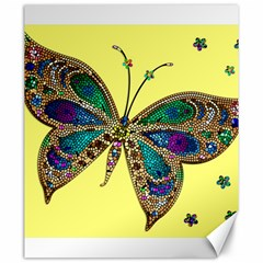 Butterfly Mosaic Yellow Colorful Canvas 20  X 24   by Amaryn4rt