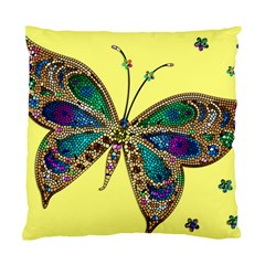Butterfly Mosaic Yellow Colorful Standard Cushion Case (one Side) by Amaryn4rt