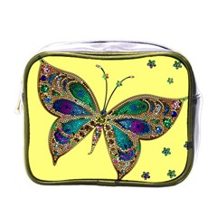 Butterfly Mosaic Yellow Colorful Mini Toiletries Bags by Amaryn4rt
