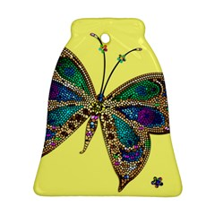 Butterfly Mosaic Yellow Colorful Bell Ornament (2 Sides) by Amaryn4rt