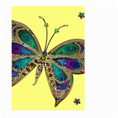 Butterfly Mosaic Yellow Colorful Large Garden Flag (two Sides)