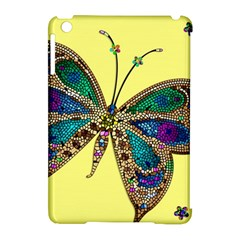 Butterfly Mosaic Yellow Colorful Apple Ipad Mini Hardshell Case (compatible With Smart Cover) by Amaryn4rt