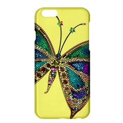 Butterfly Mosaic Yellow Colorful Apple Iphone 6 Plus/6s Plus Hardshell Case by Amaryn4rt