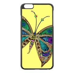 Butterfly Mosaic Yellow Colorful Apple Iphone 6 Plus/6s Plus Black Enamel Case by Amaryn4rt