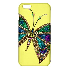 Butterfly Mosaic Yellow Colorful Iphone 6 Plus/6s Plus Tpu Case by Amaryn4rt