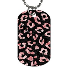 Skin5 Black Marble & Red & White Marble (r) Dog Tag (two Sides) by trendistuff