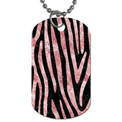 Skin4 Black Marble & Red & White Marble (r) Dog Tag (one Side) by trendistuff