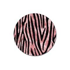 Skin4 Black Marble & Red & White Marble Magnet 3  (round) by trendistuff
