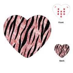 Skin3 Black Marble & Red & White Marble (r) Playing Cards (heart) by trendistuff