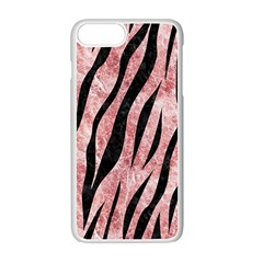 Skin3 Black Marble & Red & White Marble (r) Apple Iphone 7 Plus White Seamless Case by trendistuff