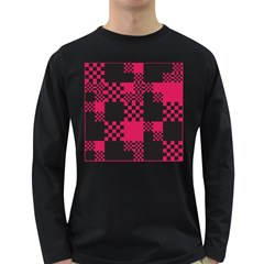 Cube Square Block Shape Creative Long Sleeve Dark T Shirts by Amaryn4rt