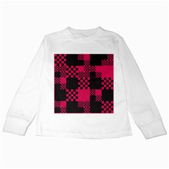 Cube Square Block Shape Creative Kids Long Sleeve T Shirts by Amaryn4rt