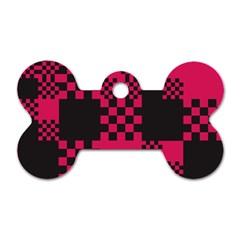 Cube Square Block Shape Creative Dog Tag Bone (two Sides) by Amaryn4rt