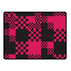 Cube Square Block Shape Creative Double Sided Fleece Blanket (small)  by Amaryn4rt
