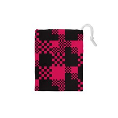 Cube Square Block Shape Creative Drawstring Pouches (xs)  by Amaryn4rt