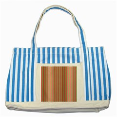Pattern Background Red White Green Striped Blue Tote Bag by Amaryn4rt