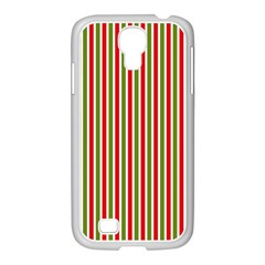 Pattern Background Red White Green Samsung Galaxy S4 I9500/ I9505 Case (white) by Amaryn4rt