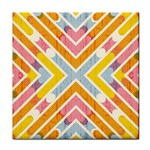 Line Pattern Cross Print Repeat Tile Coasters