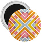 Line Pattern Cross Print Repeat 3  Magnets