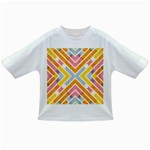 Line Pattern Cross Print Repeat Infant/Toddler T-Shirts