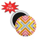 Line Pattern Cross Print Repeat 1.75  Magnets (10 pack)