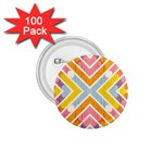 Line Pattern Cross Print Repeat 1.75  Buttons (100 pack)
