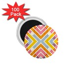 Line Pattern Cross Print Repeat 1.75  Magnets (100 pack)