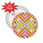 Line Pattern Cross Print Repeat 2.25  Buttons (10 pack)