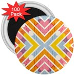 Line Pattern Cross Print Repeat 3  Magnets (100 pack)