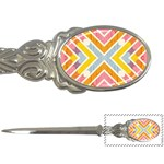 Line Pattern Cross Print Repeat Letter Openers