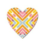 Line Pattern Cross Print Repeat Heart Magnet