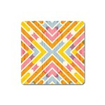 Line Pattern Cross Print Repeat Square Magnet