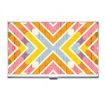 Line Pattern Cross Print Repeat Business Card Holders