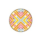 Line Pattern Cross Print Repeat Hat Clip Ball Marker