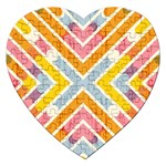 Line Pattern Cross Print Repeat Jigsaw Puzzle (Heart)
