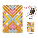 Line Pattern Cross Print Repeat Playing Card