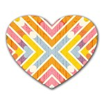 Line Pattern Cross Print Repeat Heart Mousepads