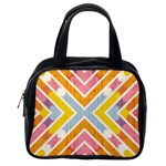 Line Pattern Cross Print Repeat Classic Handbags (One Side)