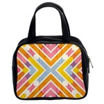 Line Pattern Cross Print Repeat Classic Handbags (2 Sides)