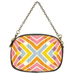 Line Pattern Cross Print Repeat Chain Purses (One Side)