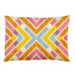 Line Pattern Cross Print Repeat Pillow Case