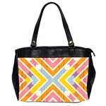 Line Pattern Cross Print Repeat Office Handbags (2 Sides)