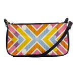 Line Pattern Cross Print Repeat Shoulder Clutch Bags