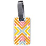 Line Pattern Cross Print Repeat Luggage Tags (One Side)