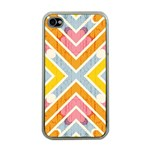 Line Pattern Cross Print Repeat Apple iPhone 4 Case (Clear)