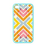 Line Pattern Cross Print Repeat Apple iPhone 4 Case (Color)
