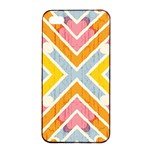 Line Pattern Cross Print Repeat Apple iPhone 4/4s Seamless Case (Black)