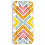 Line Pattern Cross Print Repeat Apple iPhone 4/4s Seamless Case (White)