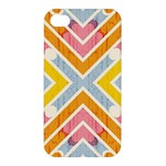 Line Pattern Cross Print Repeat Apple iPhone 4/4S Hardshell Case